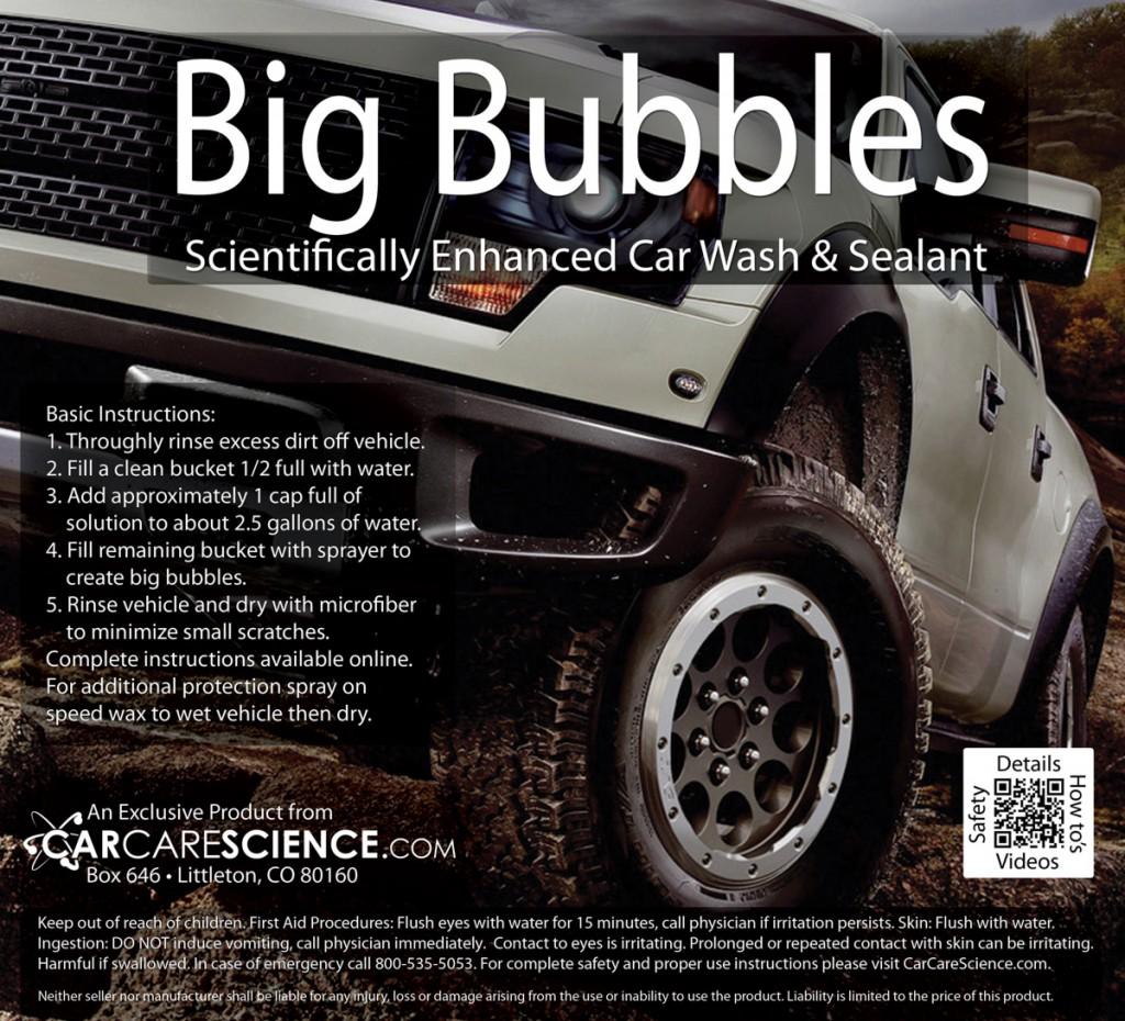 big bubbles premium car wash soap with wax car care science. Black Bedroom Furniture Sets. Home Design Ideas