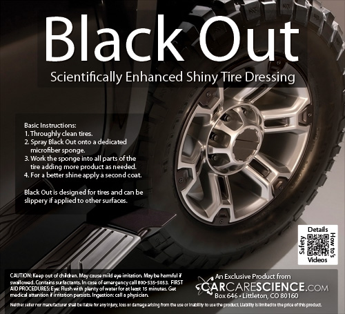 shiny tire dressing